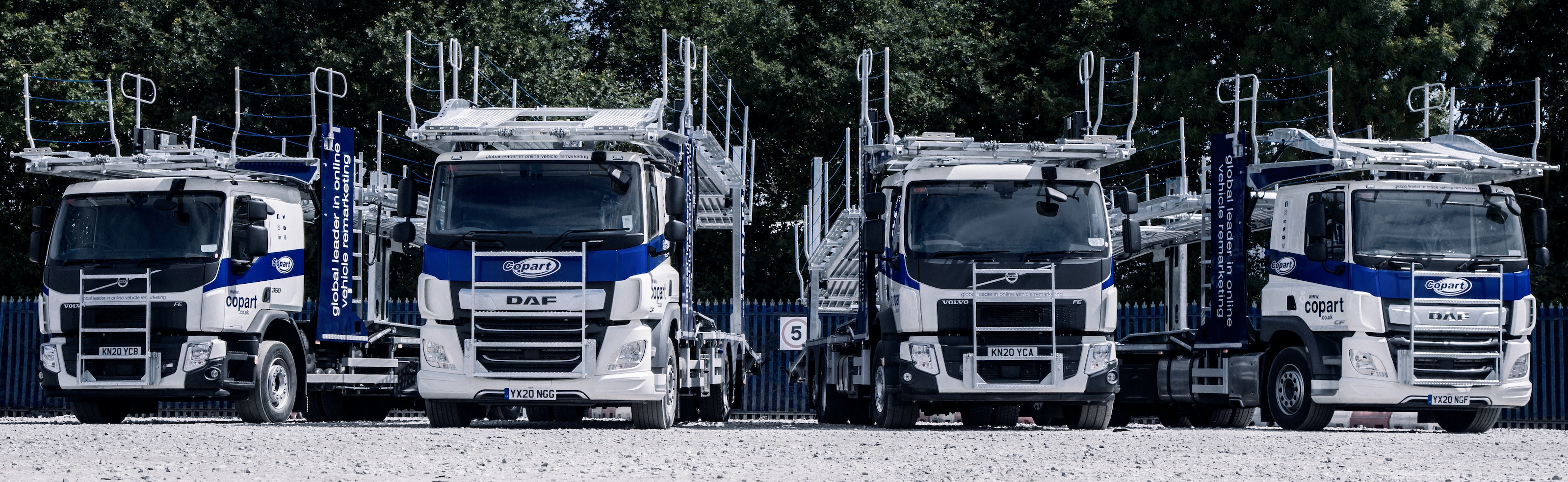 Image of Copart trucks - The UK's leading vehicle remarker