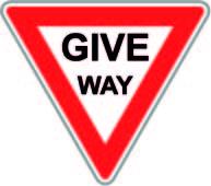 Give Way Road Sign