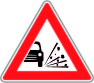 Surface Dressing Road Sign