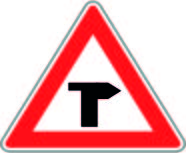 T Junction Priority Right Road Sign